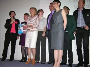 L'équipe de management REXOR recoit l'Inno Trophée Ecobiz 2012