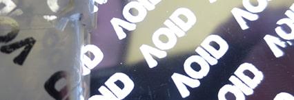 Sécurité Etiquette VOID colorée métallisée ruban VOID métallisé brillant ou mat Rexor