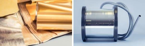 Fil-argent-doré-textile-flexible-de-douche-cuir-Rexor