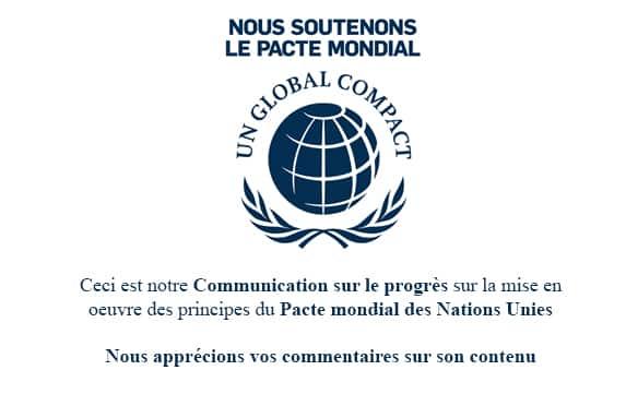 Adhésion Global Compact Rexor